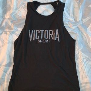 Victoria Sport Cutout Glitter Tank Top